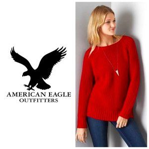 AMERICAN EAGLE Red Knit Jegging Sweater